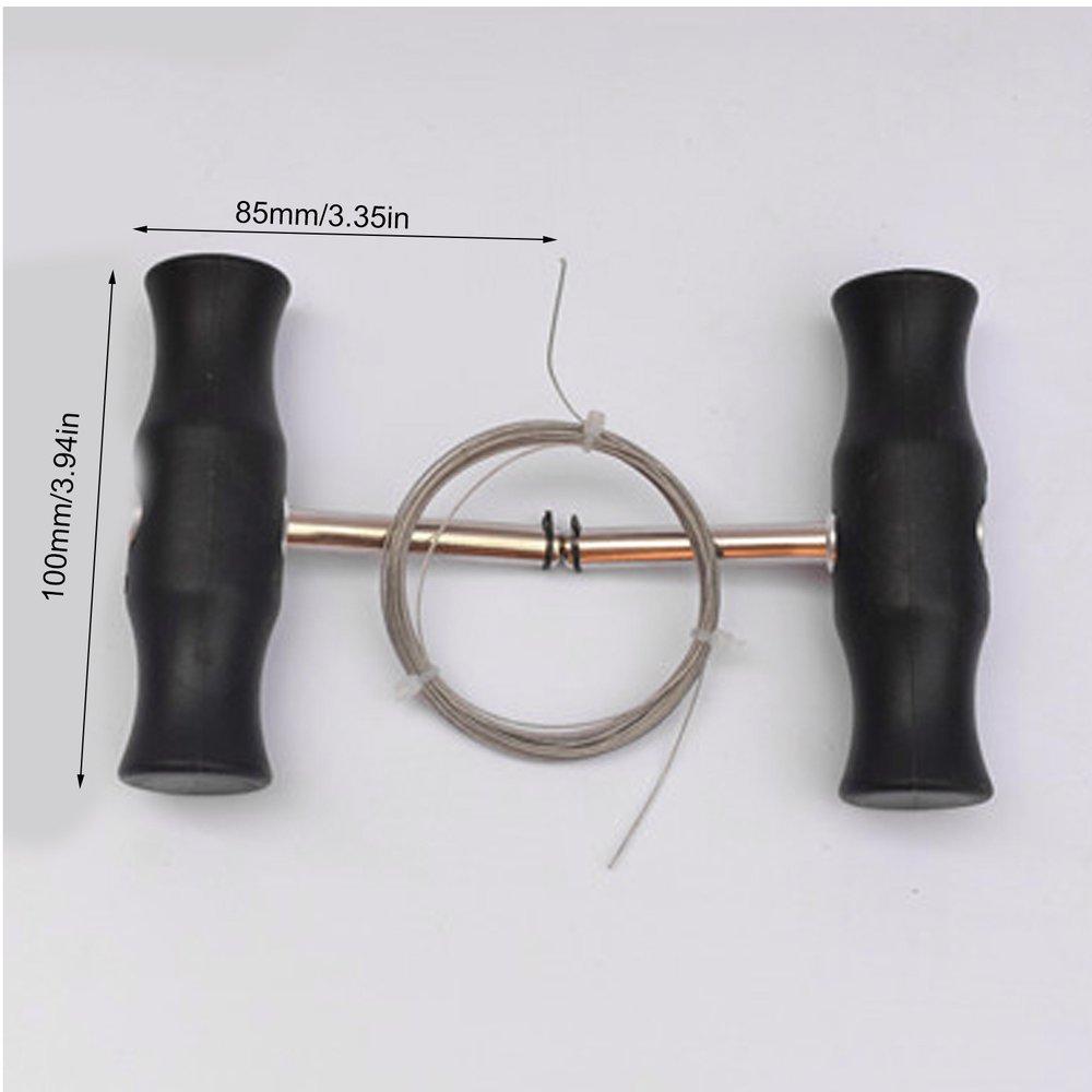 Профессиональный инструмент для снятия лобового стекла автомобиля нескользящее Т-образное оконное устройство для снятия стекла с проводом универсальный набор для большинства транспортных средств