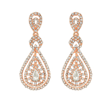 OLOEY New Long Crystals Earrings Charming Women Alloy Party Wedding Earring Accessories Female Geometric Fashion Dangle