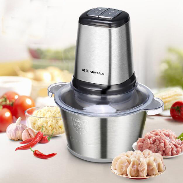 High Quality Stainless Steel 2L Bowl HIGH LOW 2 Speeds Electric Meat Grinder Mincer Food Processor high quality kitchen tool daily necessities stainless steel oil colander bowl