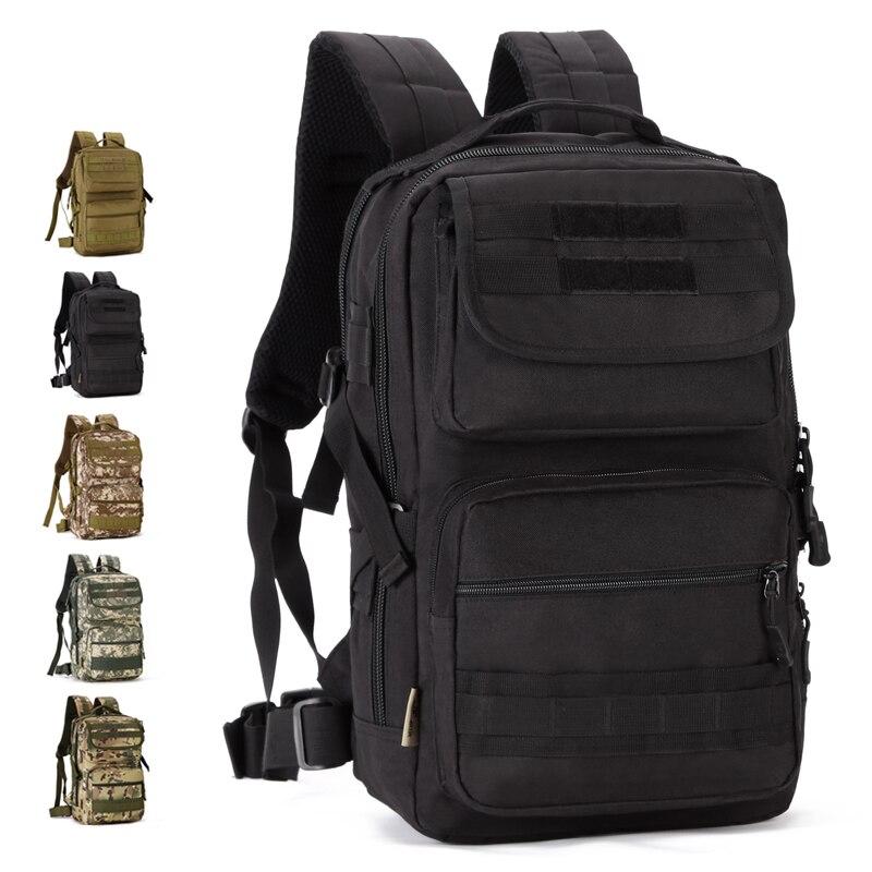 Hommes 25L multifonction extérieur tactique sac à dos militaire 14 pouces sac à dos pour ordinateur portable Messenger armée sacs sport sac à dos S403
