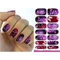 2016 transferência de água nova Nail Foil Sticker Art Sexy paquera roxo brilho flores Nail Wraps Sticker decalques Manicure K5671