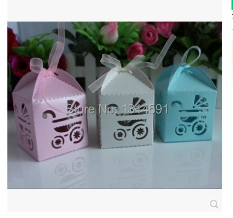 96 Pcs/lot Hollowed Stroller Candy Box Baby Shower Favour Party Supplier  Wedding Favor Giveaways ...