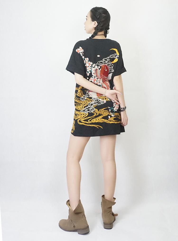 HTB1yHjDQFXXXXaiapXXq6xXFXXXg - Japan YOKOSUKA embroidery dragon and koi baseball uniform unisex shirt