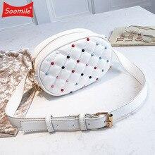 Moda Kadın Deri Bel Çantası Kadın Zincir Sling omuz çantaları Telefonu fanny paketi Bayanlar Göğüs Kemer Çanta 2019 Yeni