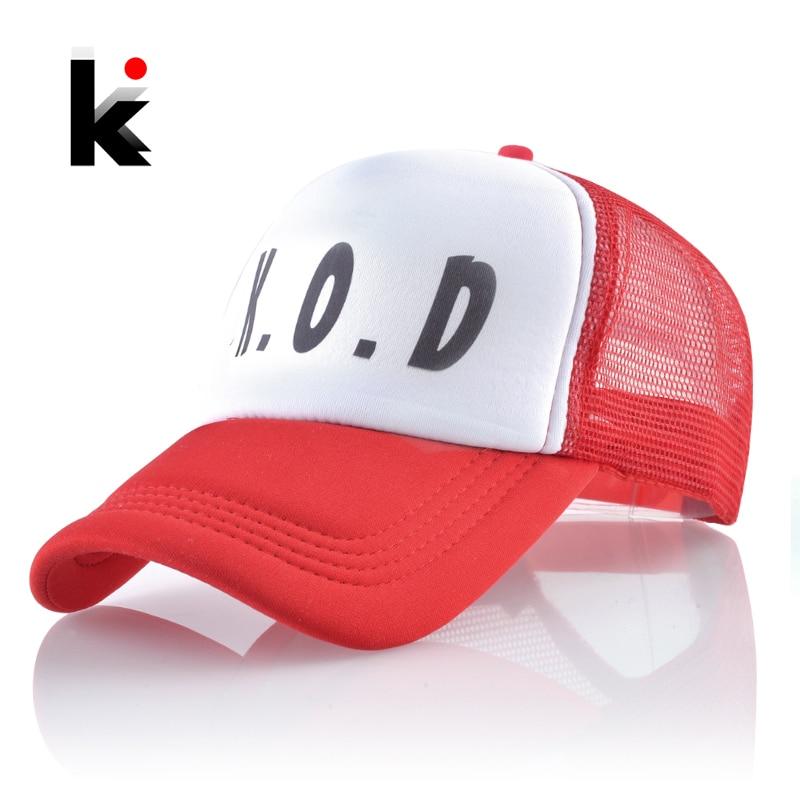 Hip-Hop Hat Visor-Bone Streetwear Caps Baseball-Cap Snapback Mesh Letter Unisex Fashion