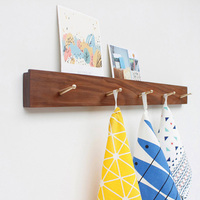 Collalily Nordic Wooden Wood Modern Design Wall Door Clothes Robe Hook Hatstand Coat Racks For Corridor