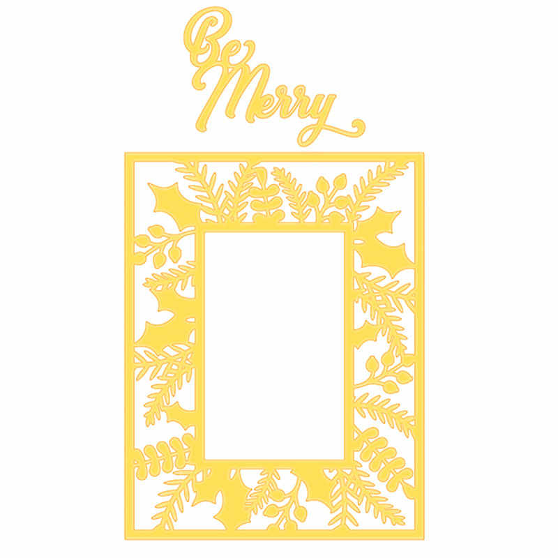 Naifumodo Christmas Frame Metal Cutting Dies for Scrapbooking 2019 New Cutting Dies DIY Album Card Making Decor Paper Craft