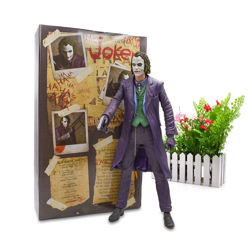 45 cm NECA The Joker Reel Toys Action Figure PVC Figure Collection Model Doll Hot Toy Christmas Gift For Children купить дешево онлайн