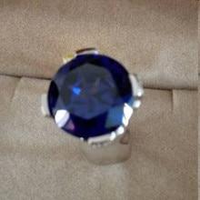 Qi Xuan_Fashion Jewelry_Big Blue Камни элегантный крест женщина Rings_S925 Твердые серебряные модные кольца_ завод прямые продажи