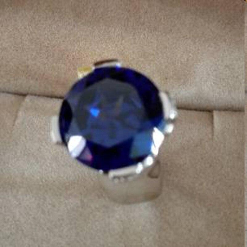 Qi Xuan_Fashion bijoux _big Blue Stones élégant croix femme Rings_S925 solide argent mode Rings_Factory directement ventes