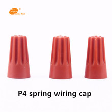 1000pcs/lot Insulated Rotating terminal crimping cap P4 helical spring-type Cable Terminals Terminal Orange color HOT SALE