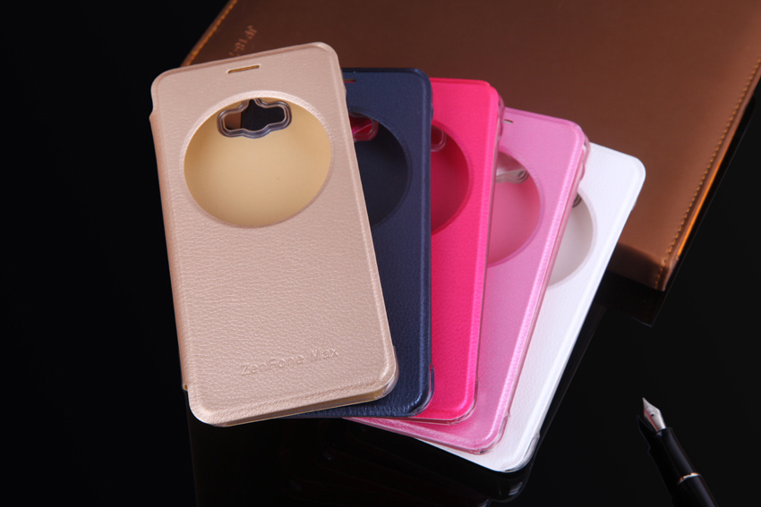 Ultra Slim Fashion Quick Smart Circle View Case Auto Sleep Flip Cover - Accesorios y repuestos para celulares - foto 3