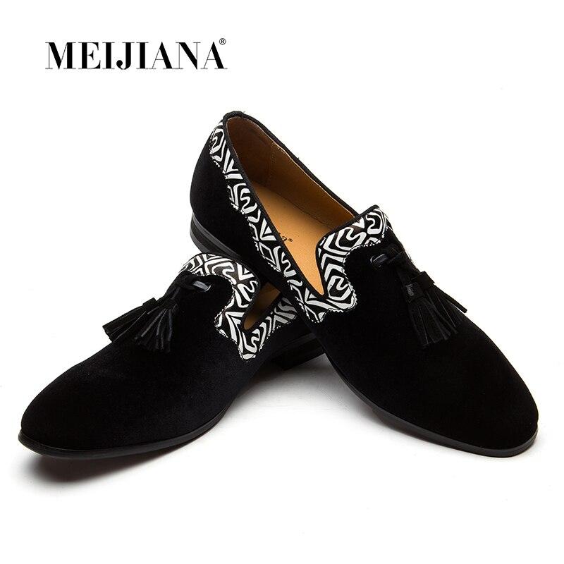 MEIJIANA Neue Männer Müßiggänger Marke Männer Schuhe Aus Echtem Leder Mokassins Comfy Atmungs Slip Auf Hochzeit Und Party Schuhe