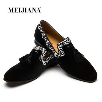 MEIJIANA New Men Loafers Brand Men Shoes Genuine Leather Moccasins Comfy Breathable Slip On Wedding And Party Shoes - DISCOUNT ITEM  49% OFF All Category