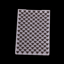 Love Heart Design Embossing Folder Stencils for DIY Scrapbooking Plastic Handmade Template Crafts Art Diary Decor Painting Tool