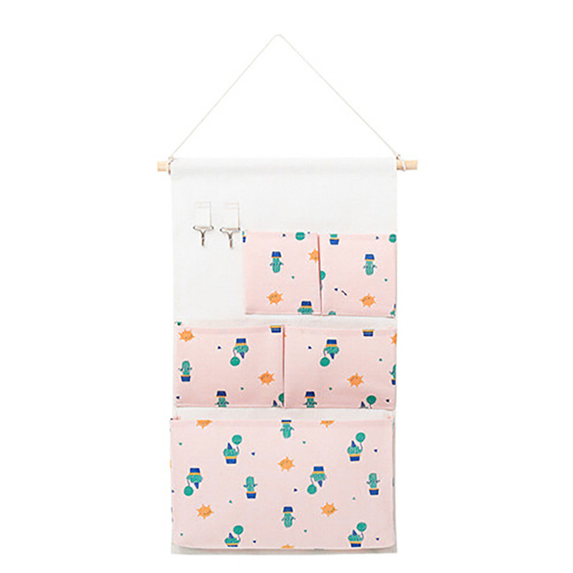 New Hanging Storage Bag Multiple Pockets Storage Hanging Bag Wall Mounted Door Pouch Room Organizer Underwear Socks Bag#25j10 (5)