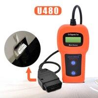 10Pcs Lot High Quality U480 CAN BUS OBD OBD2 Code Reader Scanner U480 Code Reader