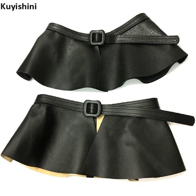 381a0116c2 Fashion Madam Pendulum Waist Belt Cross All Match PU Leather Belt Ruffles  Skirt Belts Women Peplum Cummerbund Corset Belt Strap