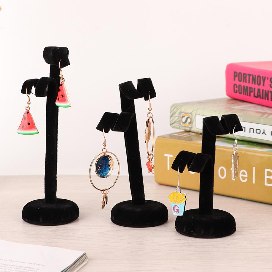3pcs/Set Desk Decor Ornament Ear Stud Earrings Bracelet Necklace Jewelry Display Stand Storage Jewellery Organizer Rack Holder