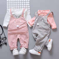Frühling neugeborenen baby mädchen kleidung sets mode anzug T-shirt + hosen anzug baby mädchen außerhalb tragen sport anzug kleidung sets