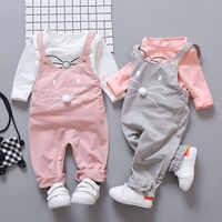 Primavera bebê recém-nascido meninas conjuntos de roupas moda terno camiseta + calças terno do bebê meninas fora vestir esportes conjuntos