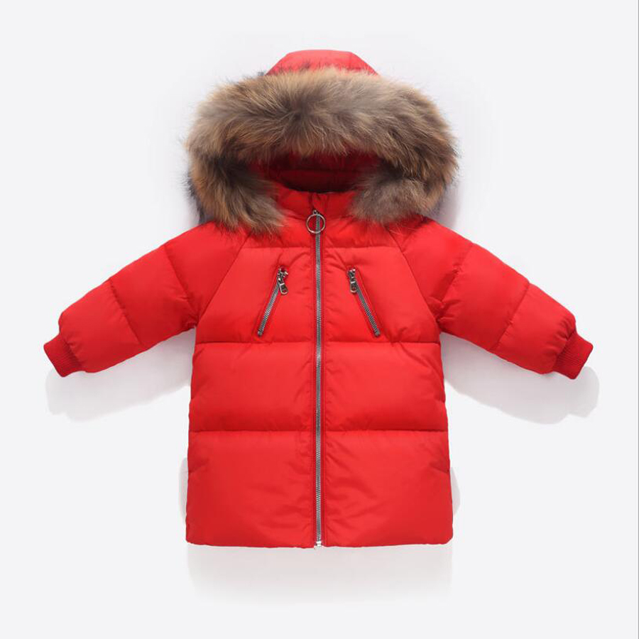 2-7 years Winter Girls Down <font><b>Jacket</b></font> for Girls <font><b>Kids</b></font> Clothes warm Outwear Red Girls Coats Baby boy girl thick Winter down <font><b>Jackets</b></font> image