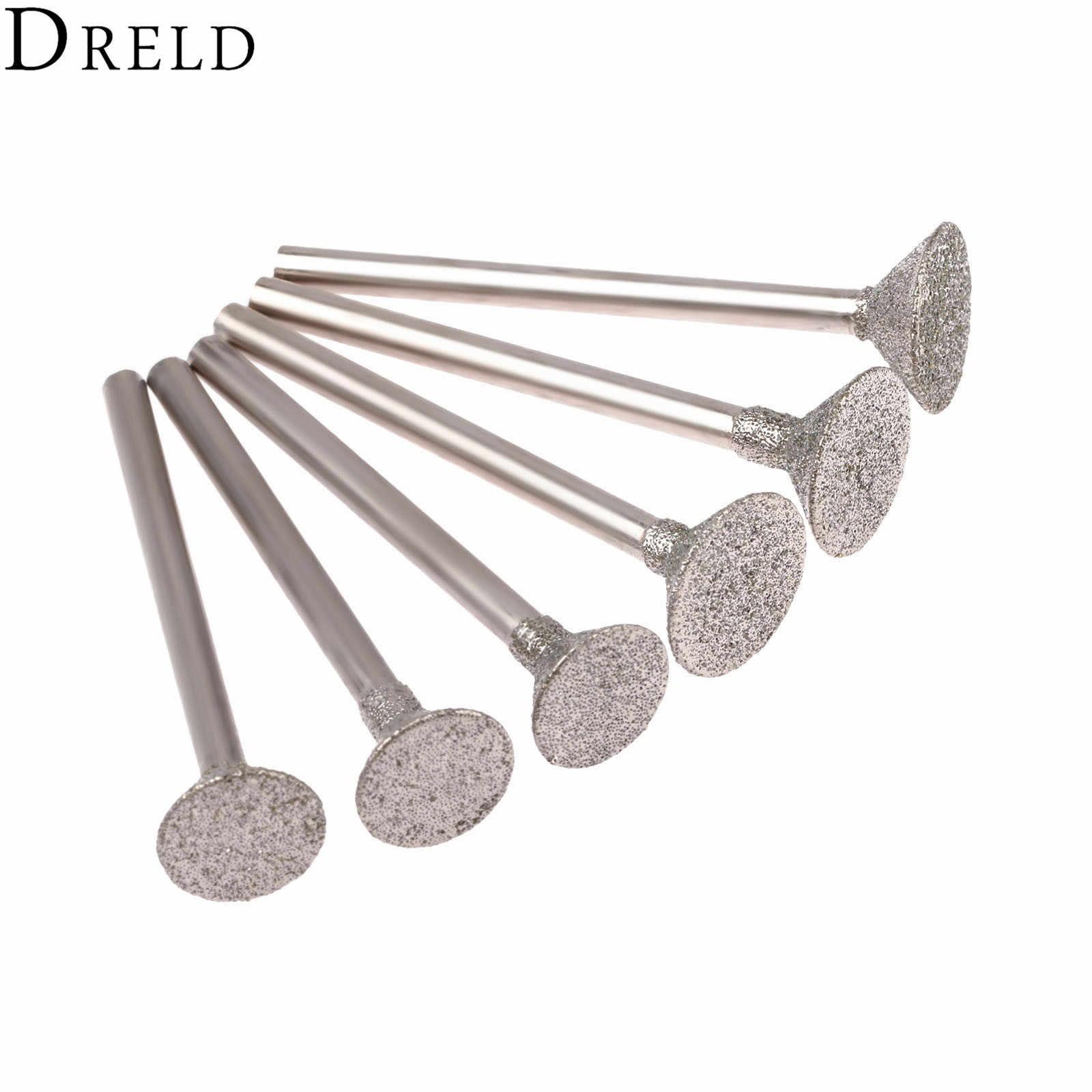 3-12mm Brazing Diamond Grinding Burr Engraving Drill Bit 46 Grit for Dremel Tool