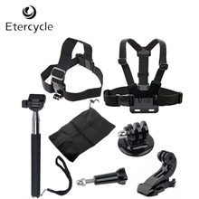 7-in-1 Accessories Kit For GoPro HD Hero 4 3+ 3 2 Chest Harness Head Strap Mount Monopod Tripod Adapter Gopro Hero bz54 monopod w tripod mount adapter for gopro hero 4 2 3 3 sj4000 nikon canon sony