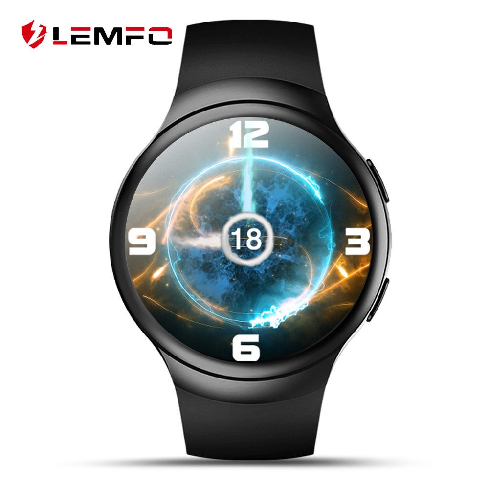 LEMFO LES2 Android 5 1 OS Smart Watch 1GB 16GB Heart Rate Monitor Smartwatch Fitness Tracker