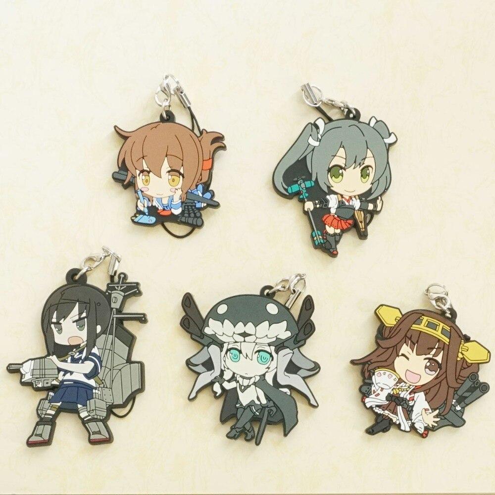 Kantai Collection Anime Game Kancolle Kongo Fubuki Rubber Resin Keychain Pendant ensemble stars anime idol high school game team trickstar boat ver rubber resin keychain pendant