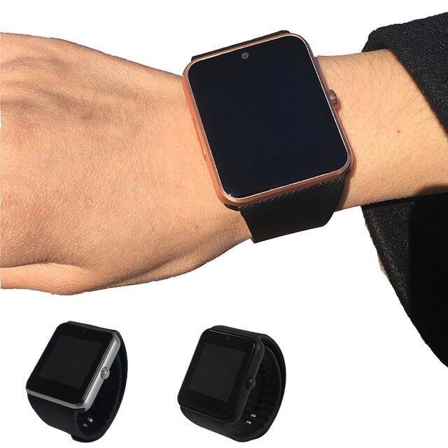 Bluetooth Smart Watch GT08 Smartwatches Черный Смарт Часы Поддержка Синхронизации Sim-карты Для IOS Android Телефон PK DZ09 GV1 c6