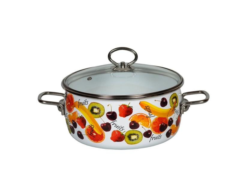 Pan VITROSS, Fruits, 3 L, with glass cover pan vitross fruits 3 l with glass cover
