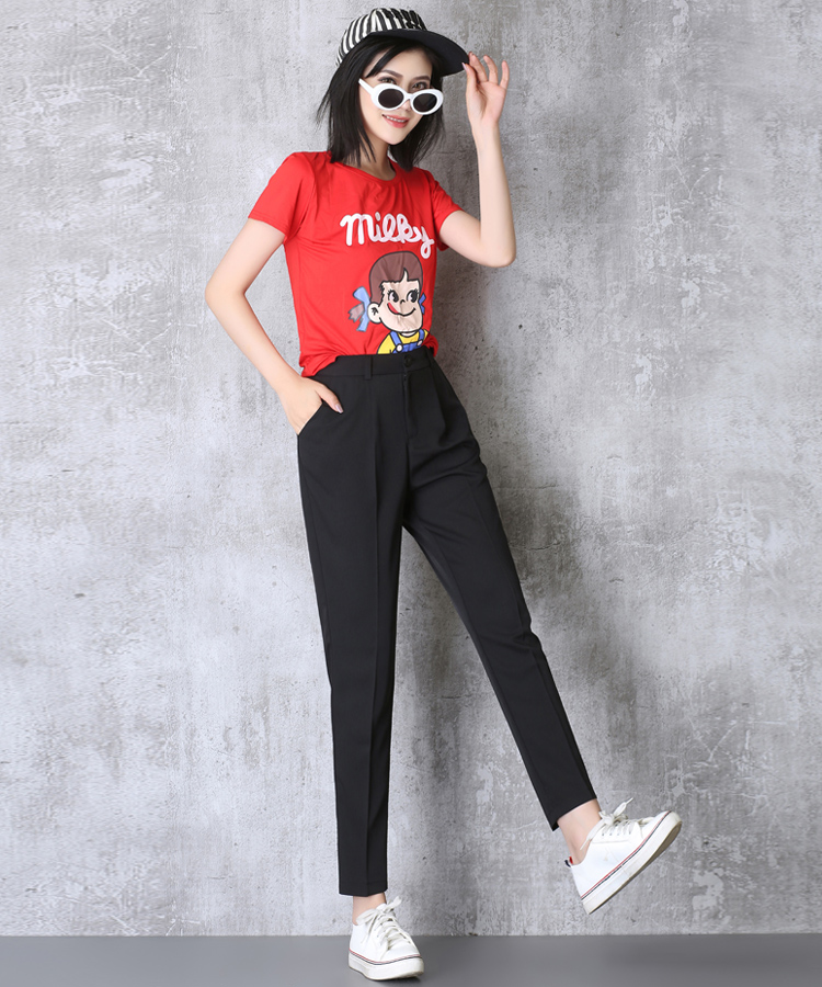 Hot Sale Harem Pants Women 19 Summer Autumn Pants Casual OL Pants Elastic High Waist Slim Work Pants Plus Size 3XL Trousers 10