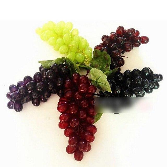 Beau Newest 45 Grain Lifelike Artificial Grapes Plastic Fake Fruit Food Home  Decor Decoration Vivid Fake Grapes