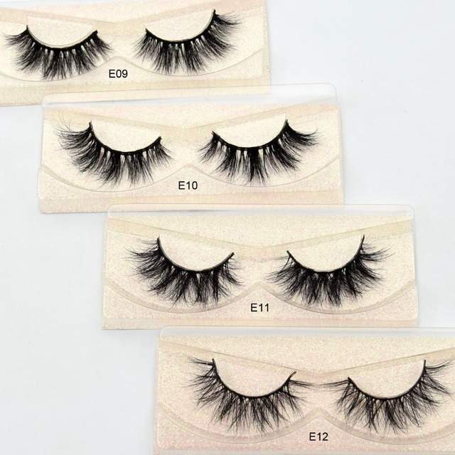 Mink Eyelashes Hand Made Crisscross False Eyelashes Cruelty Free Dramatic 3D Mink Lashes Long Lasting Faux Cils for Makeup Tools