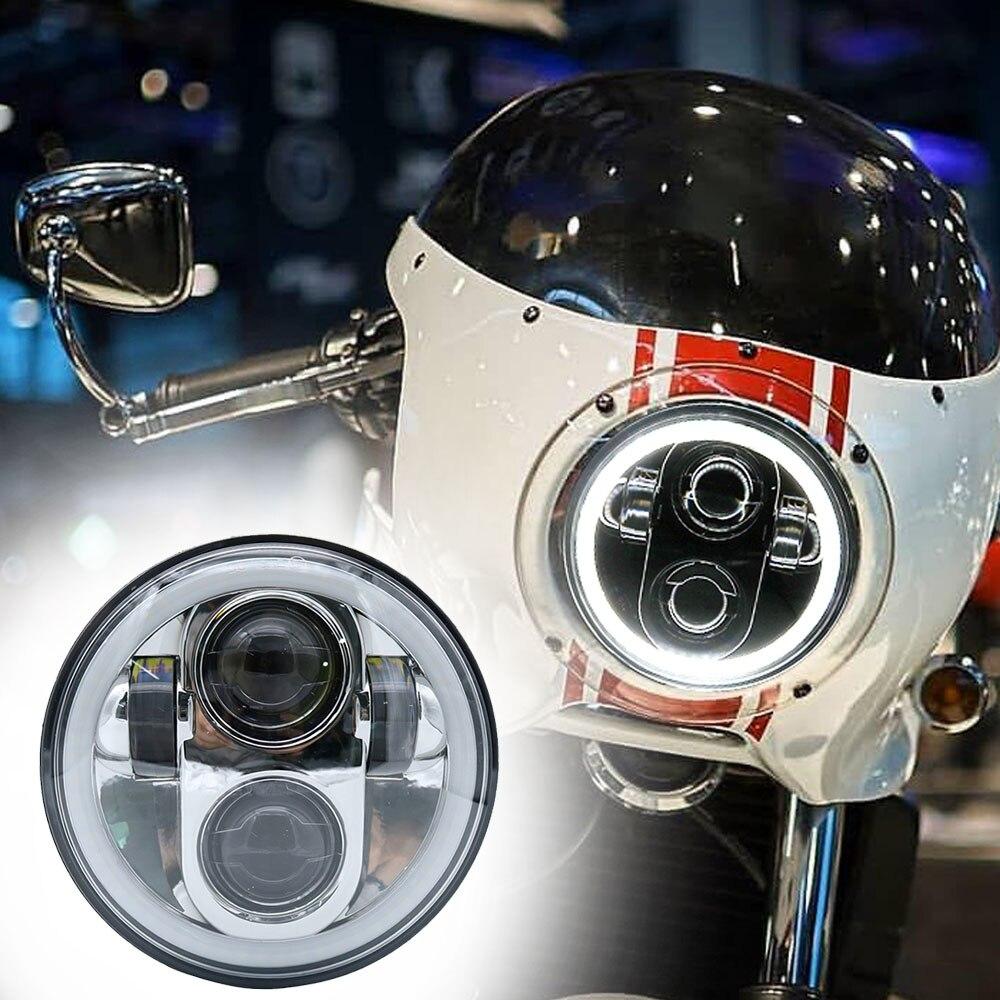 Home Black Chrome 5.75 Led Headlight For Yamaha Trx850 High/low Beam 5 3/4 Driving Headlamp For Harley Moto Projector