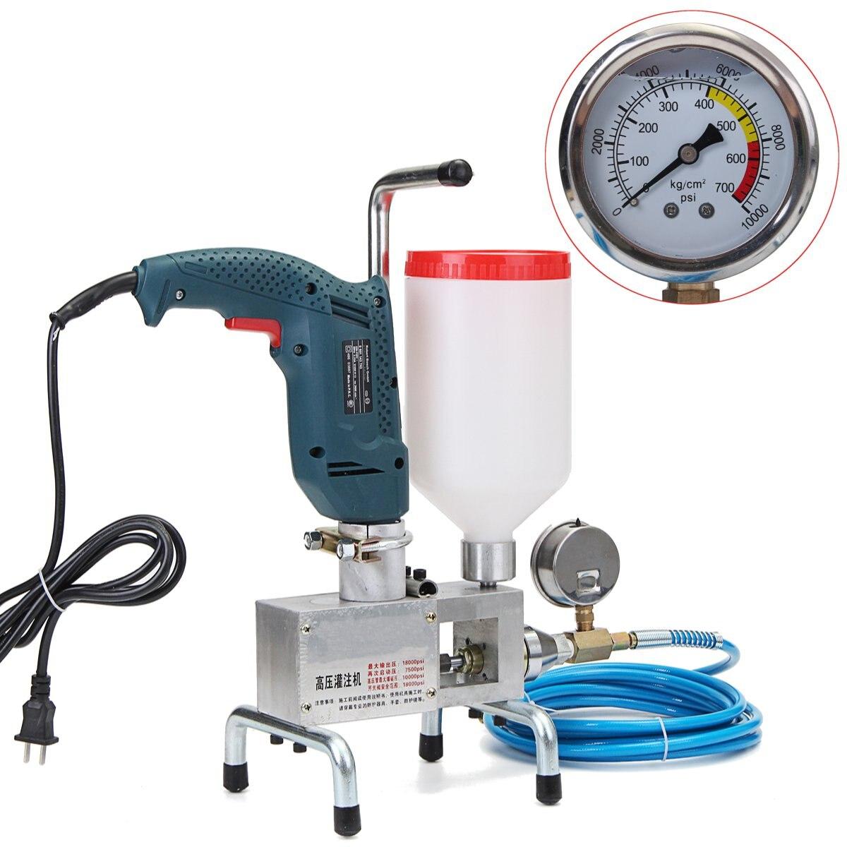 Eléctrica epoxi de inyección bomba de pistón de poliuretano inyección de espuma de máquina de acero
