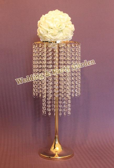 62cm(H) Gold wedding table centerpiece event party decoration/Wedding Crystal decoration / Wedding Decoration 10 pcs/lot