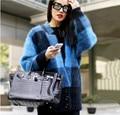 Europe and the United States New Plush mink cashmere cardigan sweater coat BianFuShan plaid coat thick fur knitting