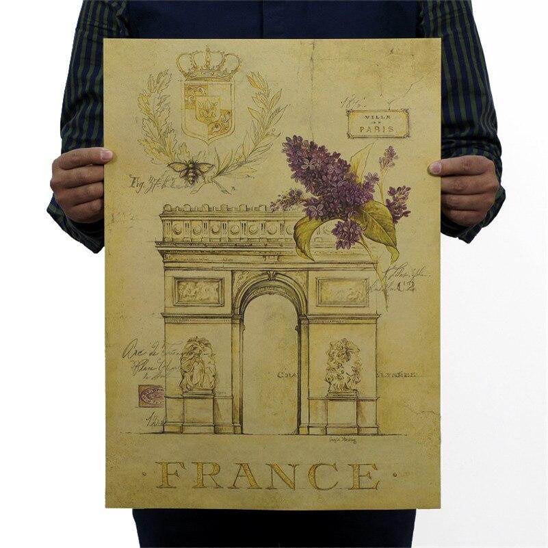 NPH-066 vintage Retro poster Kraft paper 51x35 cm