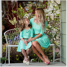 mother and daughter clothes family matching dress mom baby new fashion summer kids big sister sexy dresses mama xxl
