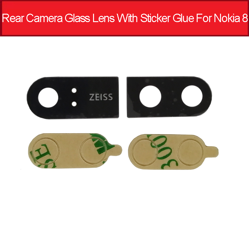 Genuine Back Rear Camera Glass Lens With Ahesive Sticker For <font><b>Nokia</b></font> 8 TA1004 TA1052 <font><b>TA</b></font>-<font><b>1004</b></font> <font><b>TA</b></font>-1052 Replacement Parts image