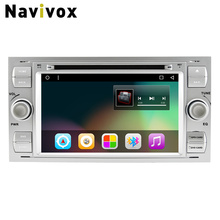 Navivox Android 7.1 Car DVD GPS Player For Ford Focus/Focus 2 C-MAX Galaxy Fusion Connect Transit Fiesta Car Multimedia Stereo