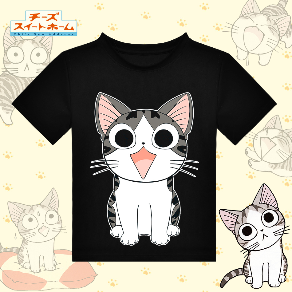 Aliexpress com buy japanese anime chis sweet home cat t shirt shirt t shirt cute funny kawaii summer tees tops man and woman free shipping from reliable
