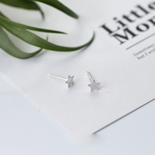 Tiny Star Shaped 925 Sterling Silver Stud Earrings