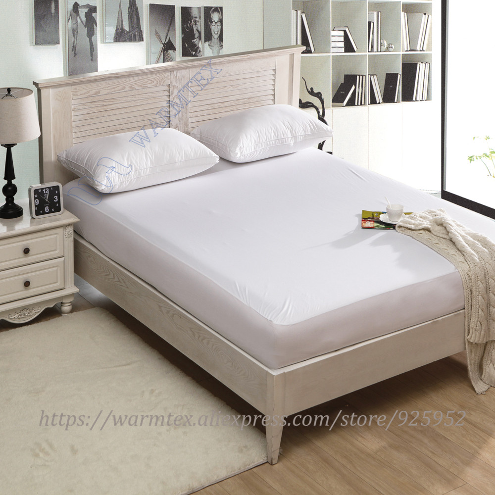 super king size 200x200cm 2m bed waterproof Smooth Knit mattress protector Mattress Cover 100% Waterproof of TPU W002 A