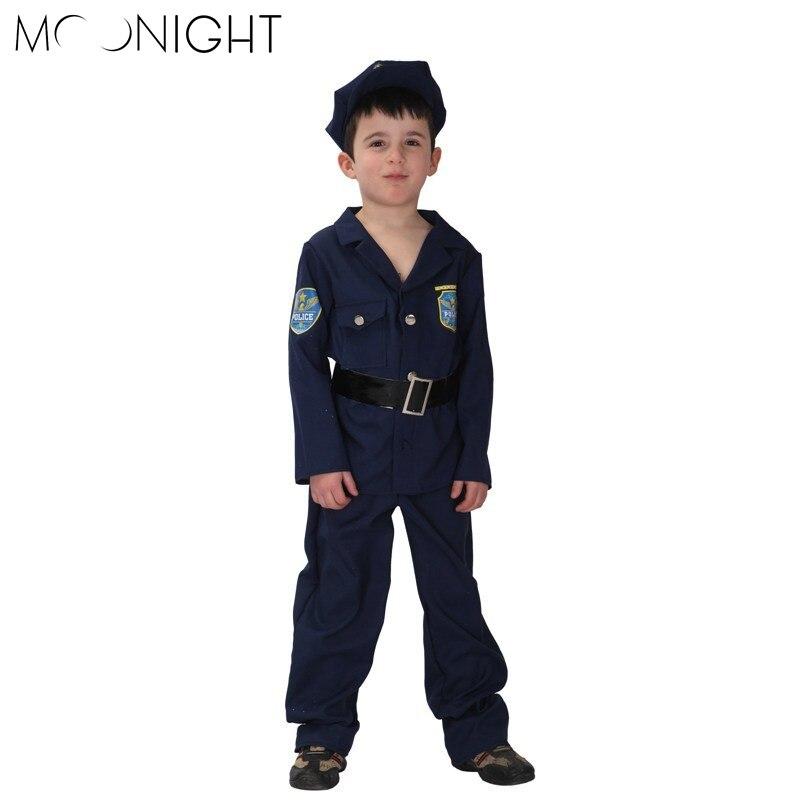 8e5ef1bc3294 Детские Хэллоуин полиции карнавальные костюмы Обувь для мальчиков полиция  дети Косплэй игры униформы