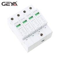 Free Shipping GEYA GSP8 4P Din Rail SPD AC275V 400V 440V 20KA 40KA AC Surge Protector 4P