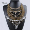 Bohemia Multilayer Alloy CZ Diamond Long Sweater Chain Water Droplets Jewelry  Necklace For Women Statement Gold Tassel Chain