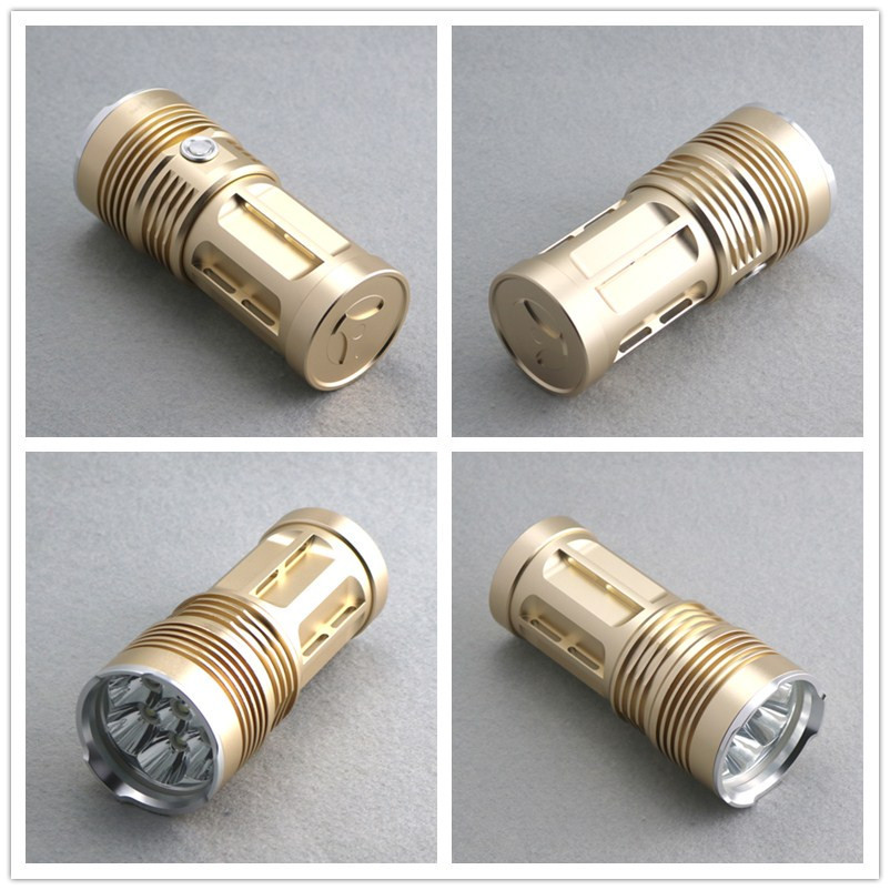 3 Modes White Lights 24000Lumens SKY King 14xCREE XM-L T6 LEDs Flashlights Torches + Rechargeable 18650 Batteries & Charger